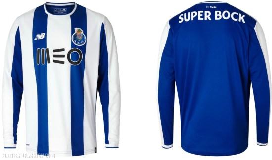 FC Porto 2017 2018 New Balance Home Football Kit, Soccer Jersey, Shirt, Camisa, Camiseta, Camisola, equipamento principal