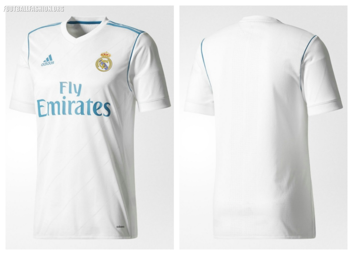 the best attitude 65dc5 69759 Real Madrid 2017/18 adidas Home and Away Kits - Football Fashion