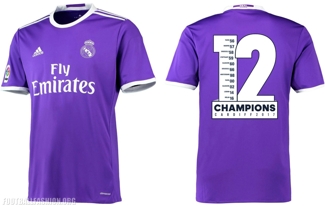Real Madrid 2017 UEFA Champions Winners adidas Range – FOOTBALL ... 670f67e32e501