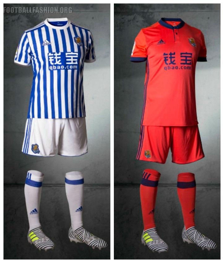 Real Sociedad 2017 18 adidas Home and Away Kits – FOOTBALL FASHION.ORG b6cb2af64ea31