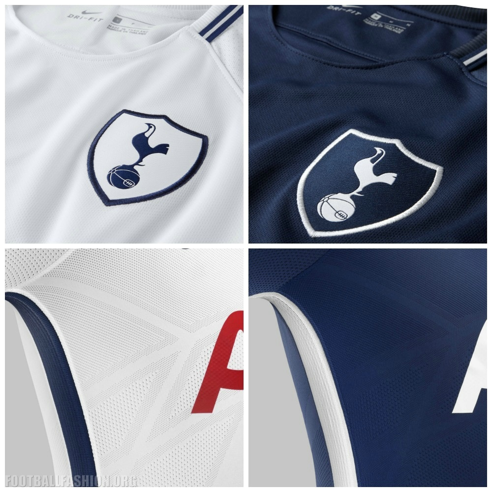cf5159498 Tottenham Hotspur Football Club 2017 2018 Nike Home and Away Football Kit
