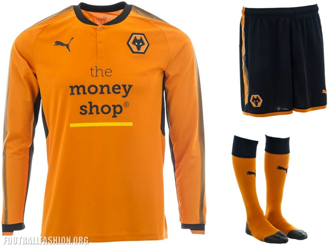 70ab3747225 Wolverhampton Wanderers FC 2017 18 PUMA Home Kit - Football Fashion