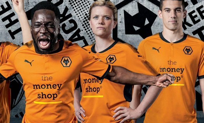 Wolverhampton Wanderers FC 2017 18 PUMA Home Kit – FOOTBALL FASHION.ORG 375e63fdf