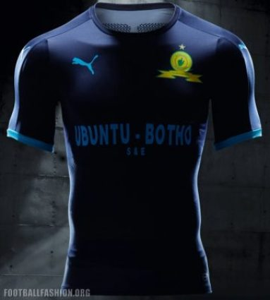 Mamelodi Sundowns PUMA 2017 2018 Third STEP OUT Football Kit, Soccer Jersey, Shirt