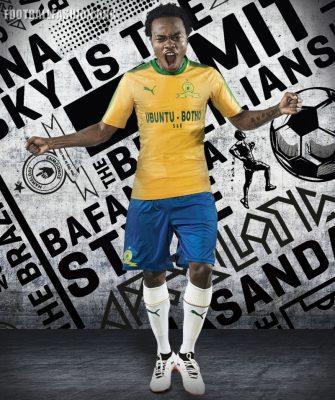 Mamelodi Sundowns PUMA 2017 2018 Home and Away Football Kit, Soccer Jersey, Shirt