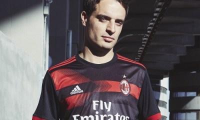 AC Milan 2017 2018 adidas Black Third Soccer Jersey, Shirt, Football Kit, Gara, Maglia, Camisa, Camiseta, Maillot, Trikot