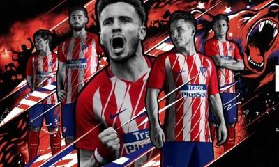 Atlético Madrid 2017 2018 Nike Home and Away Football Kit, Soccer Jersey, Shirt, Camiseta de Futbol, Equipacion, Maillot, Trikot