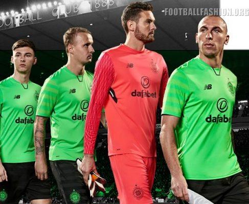 Celtic FC 2017 2018 New Balance Third Euro Football Kit, Soccer Jersey, Shirt
