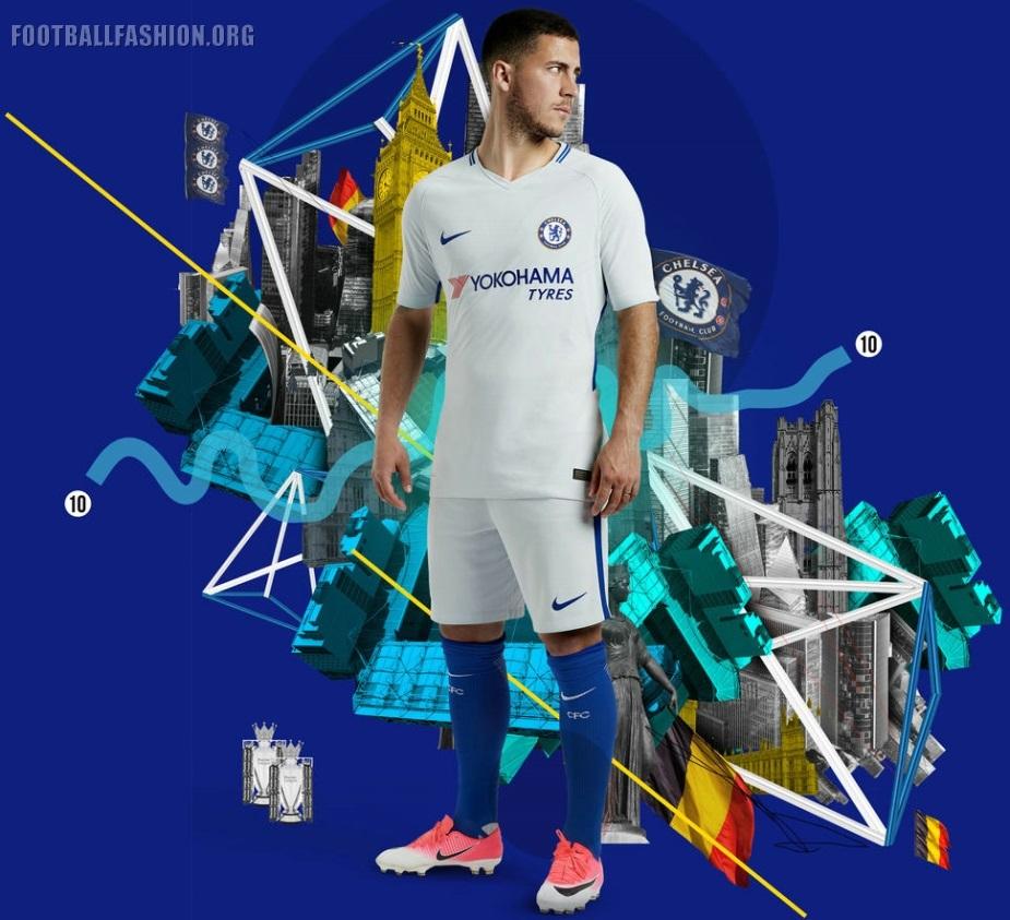 8a44a10e1 Chelsea FC 2017 18 Nike Home and Away Kits - FOOTBALL FASHION.ORG