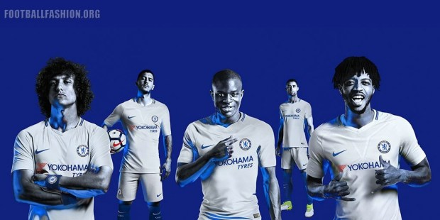 Chelsea FC 2017 2018 Nike Home and Away Football Kit, Soccer Jersey, Shirt, Camiseta de Futbol, Camisa, Maillot, Trikot, Tenue, Dres