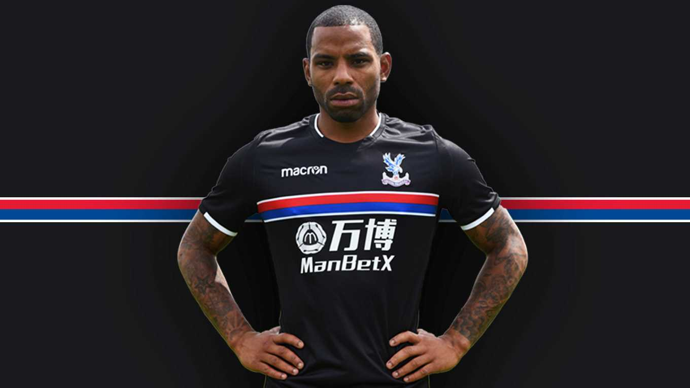 cdc932fd2 Crystal Palace FC 2017 2018 Macron Black Away Football Kit, Soccer Jersey,  Shirt