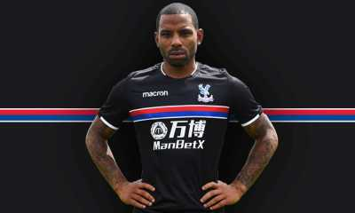 Crystal Palace FC 2017 2018 Macron Black Away Football Kit, Soccer Jersey, Shirt
