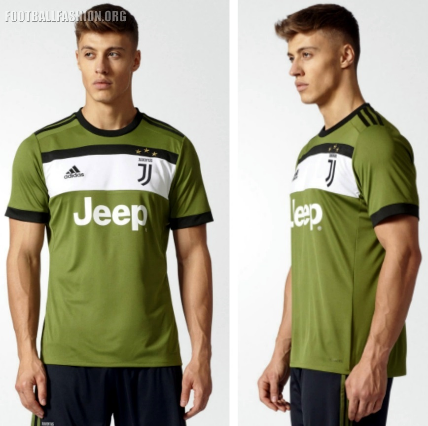 Juventus 2017 2018 adidas Green Third Football Kit, Soccer Jersey, Shirt,  Camiseta,