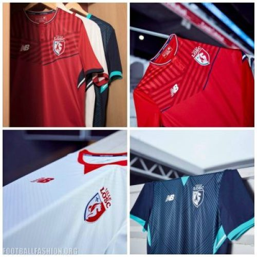 Lille OSC 2017 2018 New Balance Home, Away and Third Football Kit, Soccer Jersey, Shirt, Maillot