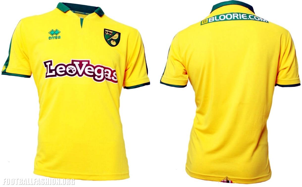 Norwich City 2017/18 Errea Home and Away Kits - FOOTBALL ...