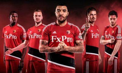 Watford FC 2017 2018 adidas Away Football Kit, Soccer Jersey, Shirt, Camiseta, Camisa, Trikot, Maillot, Maglia