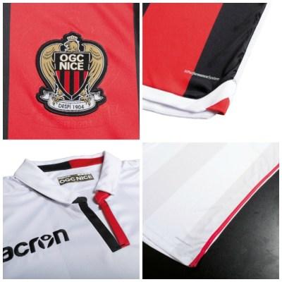 OGC Nice 2017 2018 Macron Home, Away and Third Football Kit, Soccer Jersey, Shirt, Maillot