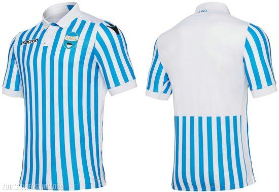 SPAL 2017 2018 Macron Home, Away and Third Football Kit, Soccer Jersey, Shirt, Maglia, Gara