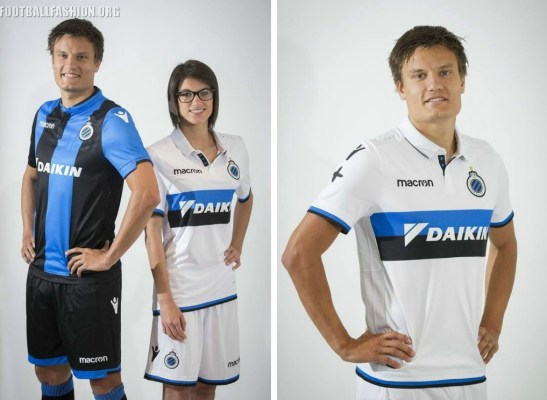 Club Brugge 2017 2018 Macron Football Shirt, Soccer Jersey, Kit, Tenue, Maillot