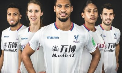 Crystal Palace FC 2017 2018 Macron White Third Football Kit, Soccer Jersey, Shirt