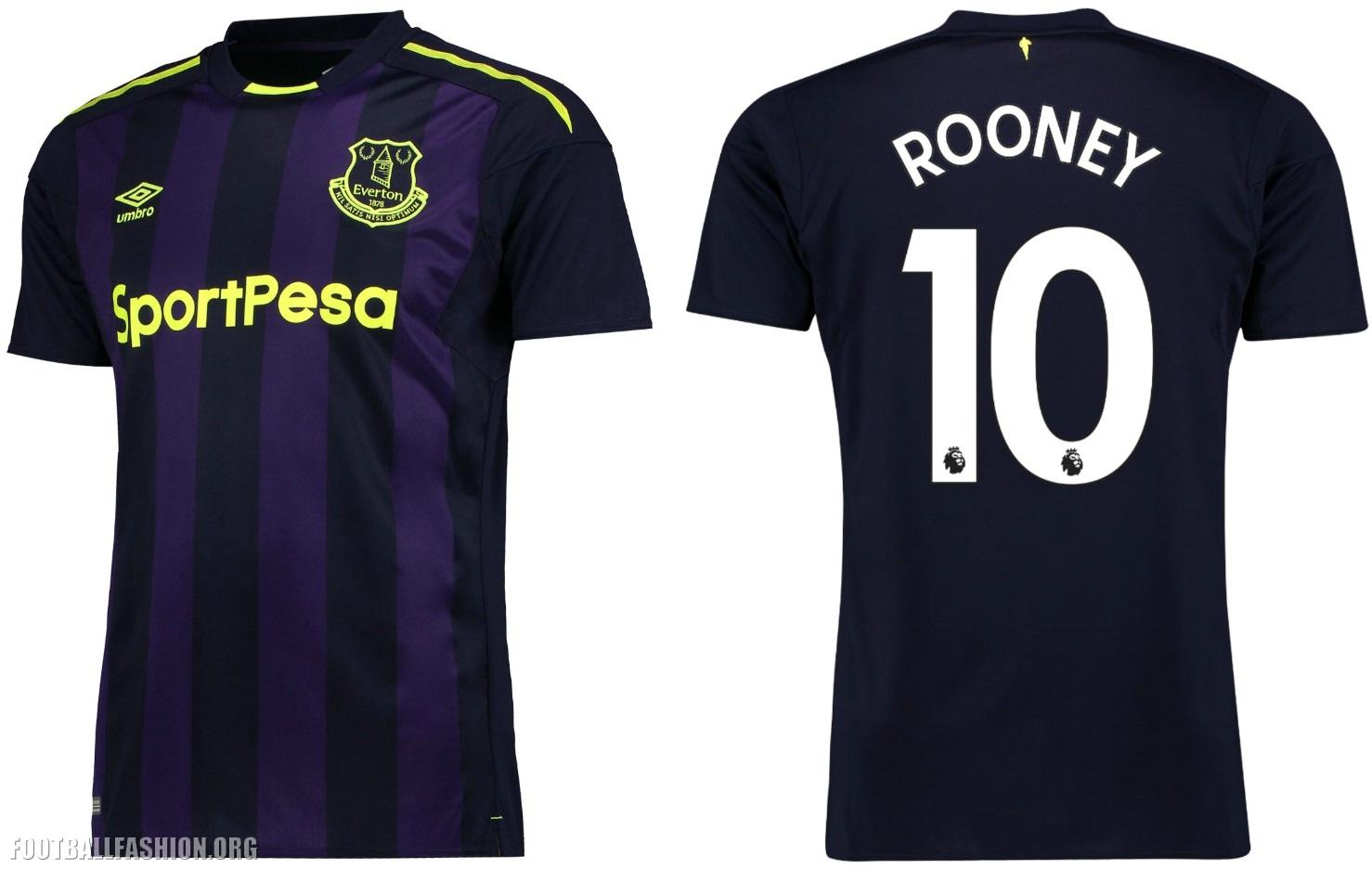Everton Fc 2017 18 Umbro Third Kit Football Fashion