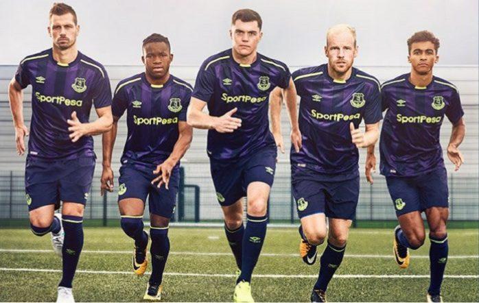 buy popular f6731 28732 Everton FC 2017/18 Umbro Third Kit - Football Fashion