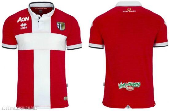 Parma Calcio 1913 Errea 2017 2018 Football Kit, Soccer Jersey, Shirt, Gara, Maglia, Camiseta