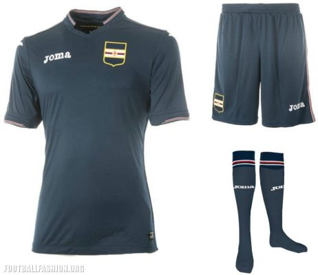 Sampdoria 2017 2018 Joma Away and Third Football Kit, Soccer Jersey, Shirt, Maglia, Gara