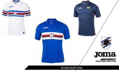 Sampdoria 2017 2018 Joma Away and Third Football Kit, Soccer Jersey, Shirt, Maglia, Gara