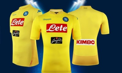 SSC Napoli 2017 2018 Kappa Yellow Away Football Kit, Shirt, Soccer Jersey, Gara, Maglia, Camiseta, Camisa, Maillot, Trikot, Tenue