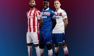 Stoke City FC 2017 2018 Macron White Third Football Kit, Soccer Jersey, Shirt
