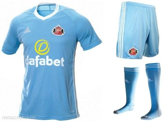 Sunderland 2017 2018 adidas Away Football Kit, Soccer Jersey, Shirt