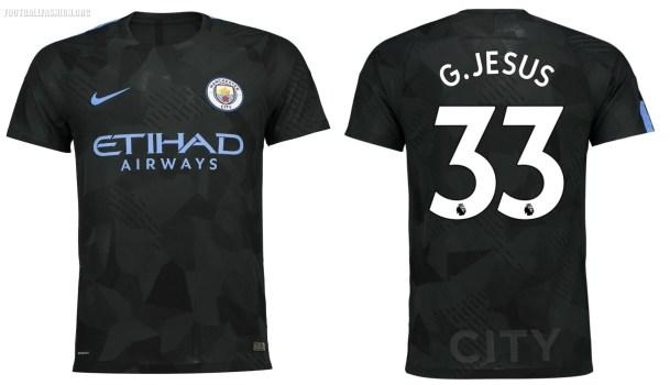Manchester City FC 2017 2018 Dark Green Nike Third Football Kit, Shirt, Soccer Jersey, Maillot, Camiseta, Camisa, Trikot, Tenue