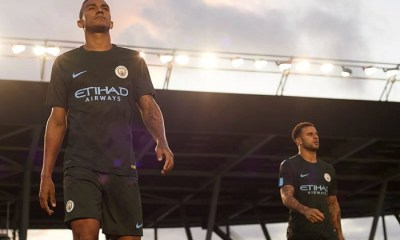 Manchester City FC 2017 2018 Dark Green Nike Third Football Kit, Shirt, Soccer Jersey, Maillot, Camiseta, Camisa, Trikot, Tenue