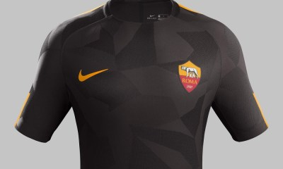 AS Roma 2017 2018 Nike Brown Third Football Kit, Soccer Jersey, Shirt, Gara, Maglia, Maillot, Trikot