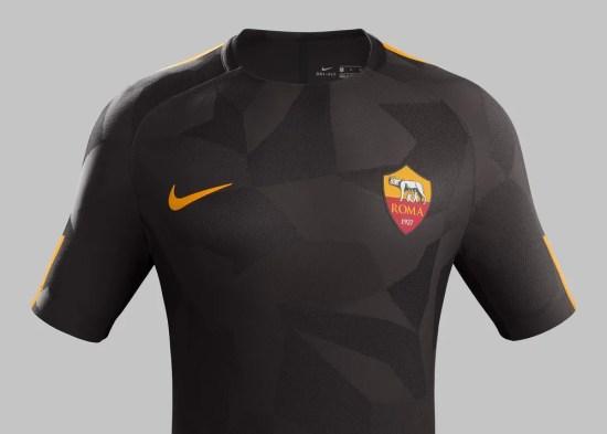 AS Roma 2017 2018 Nike Brown Third Football Kit, Soccer Jersey, Shirt, Gara, Maglia, Maillot, Trikot