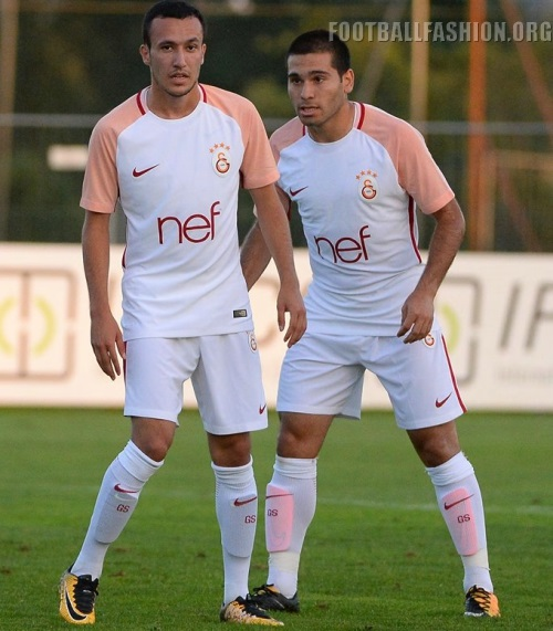 0e450280f The Galatasaray SK 17 18 third kit uses the same Nike design (Vapor with  AeroSwift). It is predominantly dark purple with bright pink stripes on its  ...
