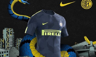 Inter Milan 2017 2018 Nike Blue Third Football Kit, Soccer Jersey, Shirt, Maglia, Gara, Camiseta, Camisa, Maillot, Trikot