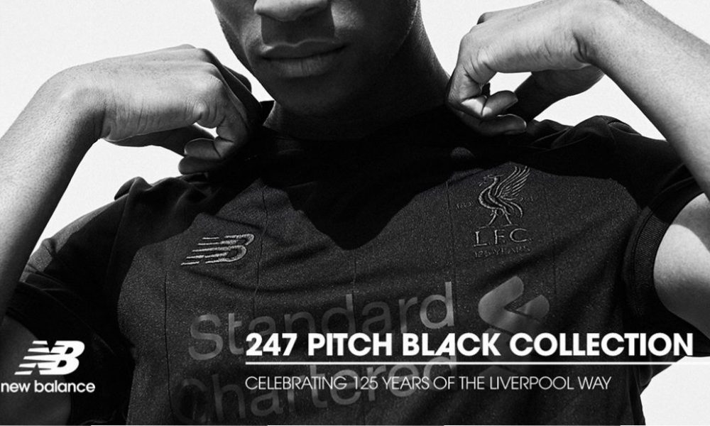 Liverpool FC 125th Anniversary 2017 2018 New Balance Pitch Black Football Kit, Soccer Jersey, Shirt, Camiseta de Futbol, Camisa, Maillot, Trikot, Tenue