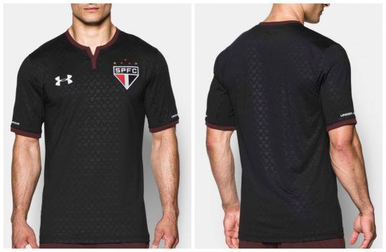 São Paulo FC 2017 Under Armour Third Soccer Jersey, Football Kit, Shirt, Camiseta de Futbol, Camisa III do Futebol