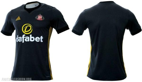 Sunderland 2017 2018 adidas Third Football Kit, Soccer Jersey, Shirt