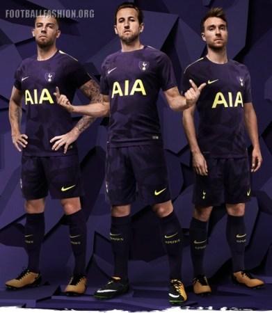 Tottenham Hotspur Football Club 2017 2018 Nike Purple Third Football Kit, Soccer Jersey, Shirt, Maillot, Trikot, Tenue, Camiseta, Camisa, Camisola, Dres