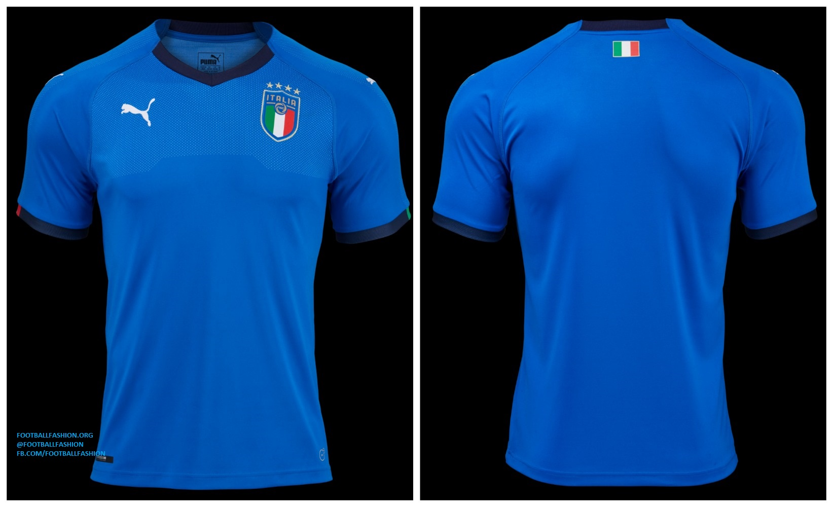 Gigi buffon unveils italy 2018 puma home kit football for Italian kit