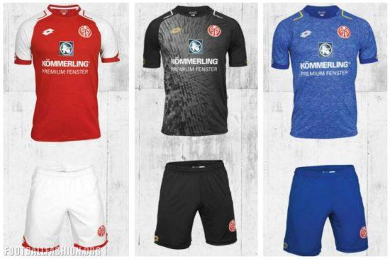 Mainz 05 2017 2018 Home, Away and Third Football Kit, Shirt, Soccer Jersey, Trikot
