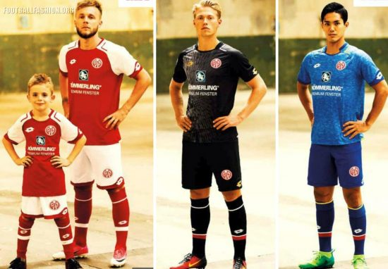 Mainz 05 2017 2018 Home, Away and Third Football Kit, Shirt, Soccer Jersey, Trikot
