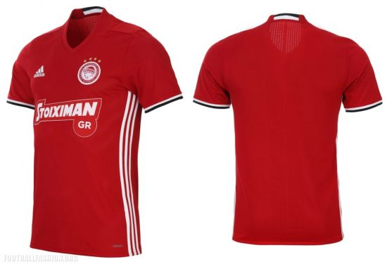 Olympiacos FC 2017 2018 adidas Home, Away and Third Football Kit, Soccer Jersey, Shirt