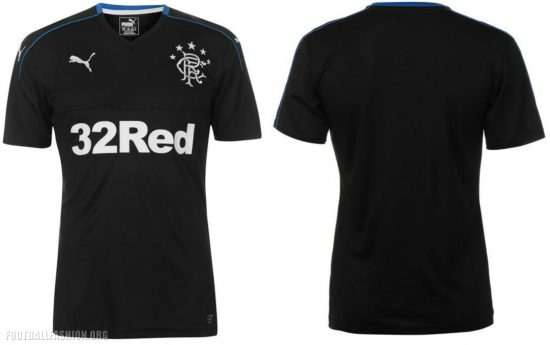 Rangers FC 2017 2018 PUMA Third Football Kit, Soccer Jersey, Shirt