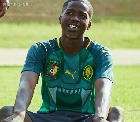 Cameroon 2018 PUMA Home Football Kit, Soccer Jersey, Shirt, Maillot Cameroun