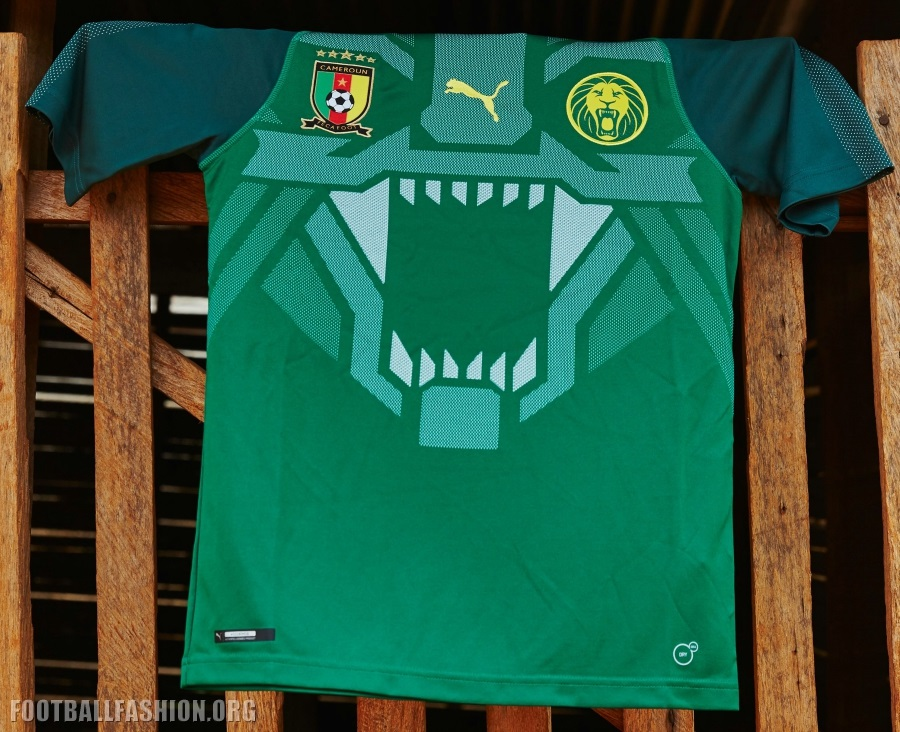 307e5628d Cameroon 2018 19 PUMA Home Kit - FOOTBALL FASHION.ORG