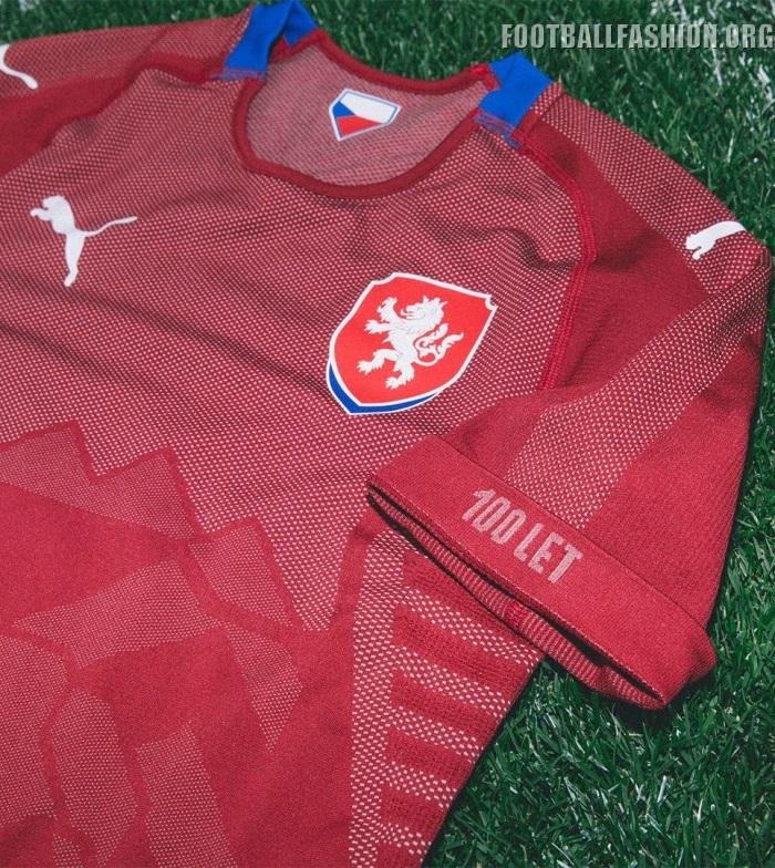 b05d77ef8 Puma 2018-2019 Czech Republic Away Football Soccer T-Shirt Maillot Homme